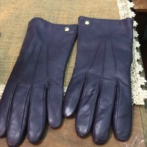 Coach Purple leather gloves